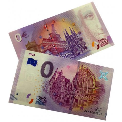 EIRO Suvenīrbanknote - 0 Nulle Eiro - Rīga