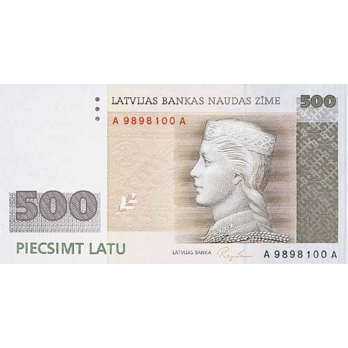 Latvijas 500 Latu Banknote