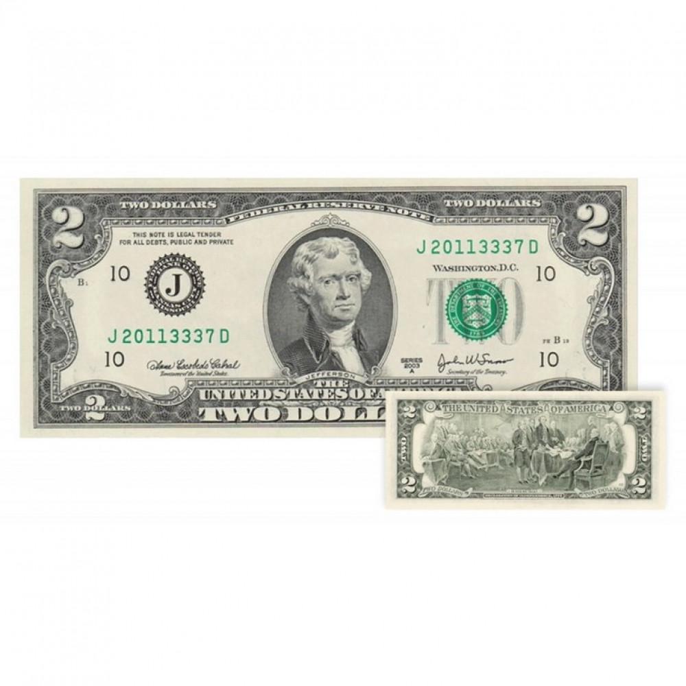 2 ASV Dolāru Banknote