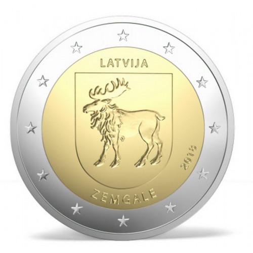 Latvijas 2 Eiro piemiņas monēta - Zemgale (2018)