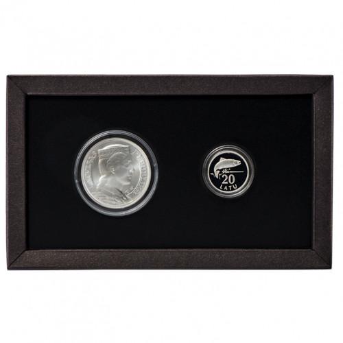 Latvijas Bankas sudraba monētu komplekts - Lata simboli sudrabā 925