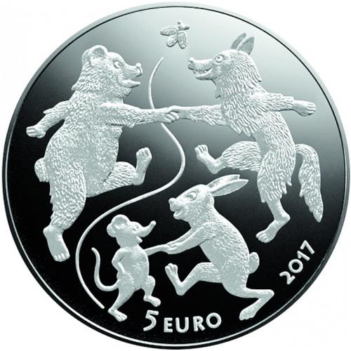 Latvijas Bankas monēta - Pasaku monēta III. Vecīša cimdiņš, 31,47 g, 925