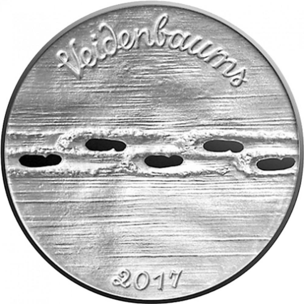 Latvijas Bankas sudraba monētu komplekts - Eduards Veidenbaums, 2x20 g, 925