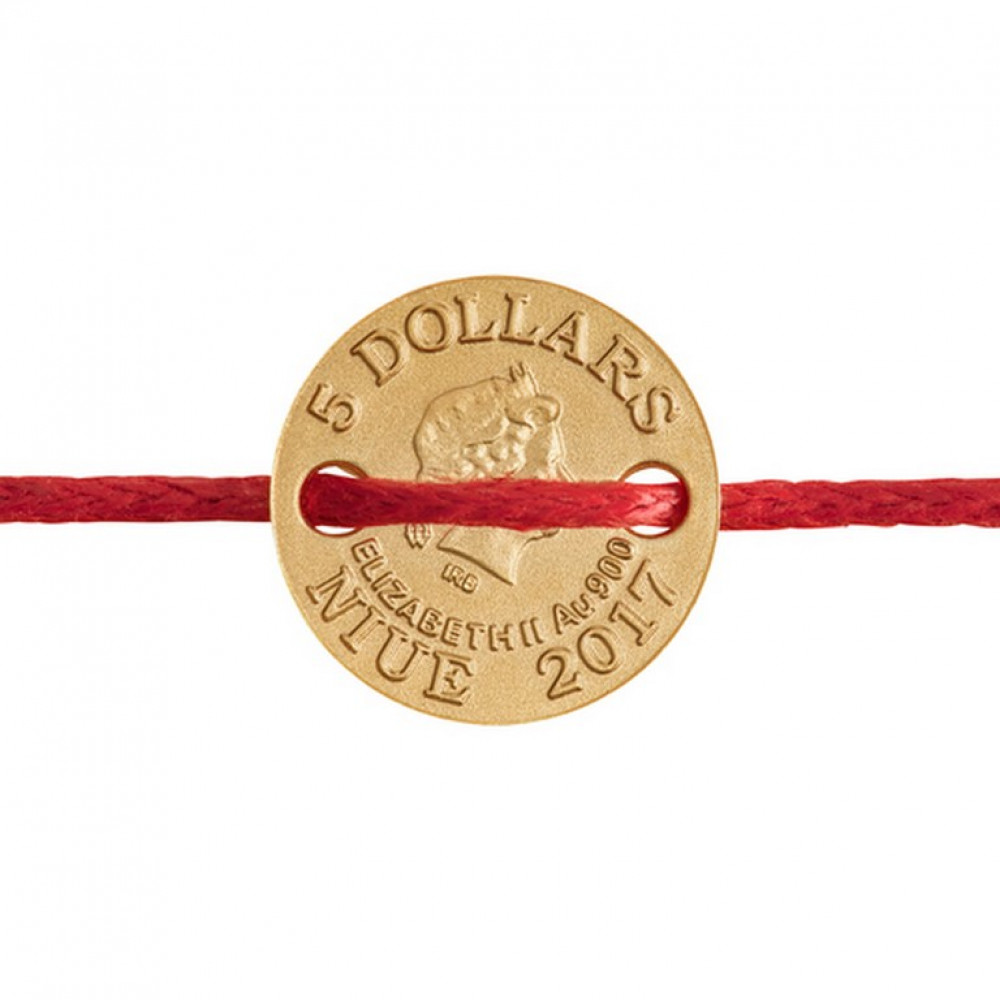 Zelta dāvanu monēta, piekariņs - Zodiaka zīme ar Swarovski - 1 g, 900