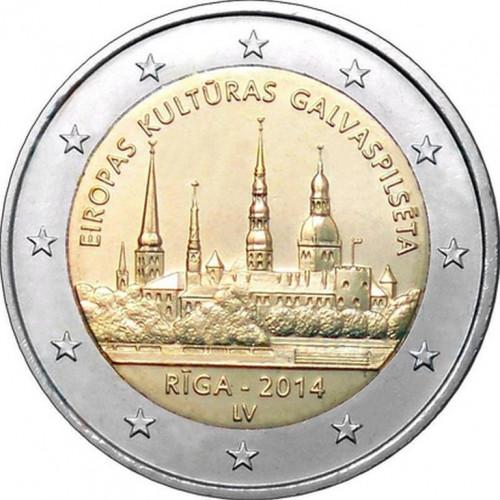 Latvijas 2 Eiro piemiņas monēta - Eiropas Kultūras Galvaspilsēta Rīga 2014