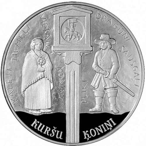 Latvijas Bankas kolekcijas monēta - Kuršu ķoniņi 22 g, 925