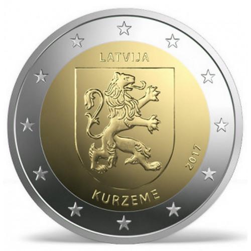 Latvijas 2 Eiro piemiņas monēta - Kurzeme (2017)