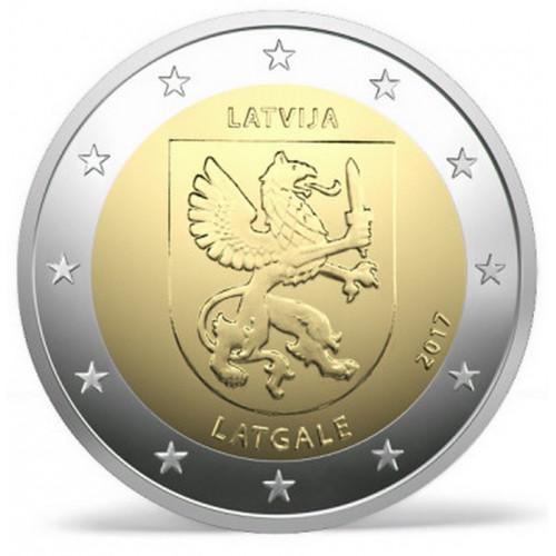 Latvijas 2 Eiro piemiņas monēta - Latgale (2017)