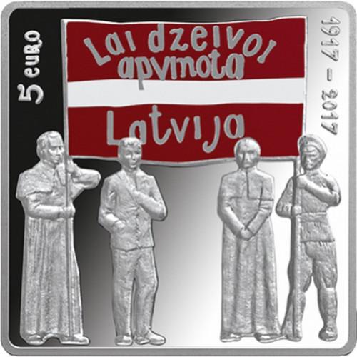 Latvijas Bankas monēta - Latgales kongress, 26,00 g, 925