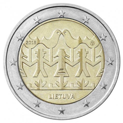 Lietuvas 2 Eiro Dziesmu un Deju svētkiem veltīta piemiņas monēta (2018)