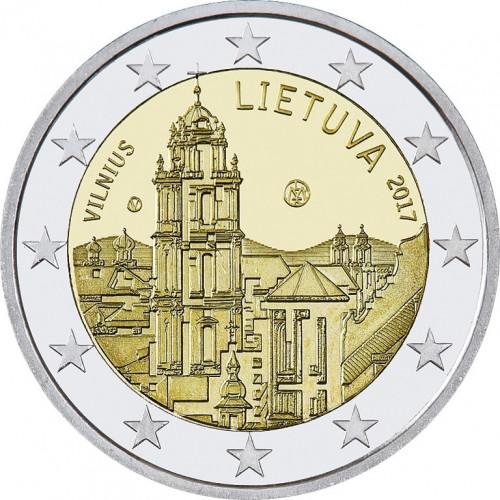 Lietuvas 2 Eiro piemiņas monēta - Viļņa (2017)