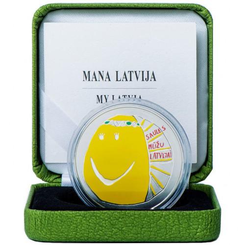 Latvijas Bankas monēta - Mana Latvija 31.47 g, 925