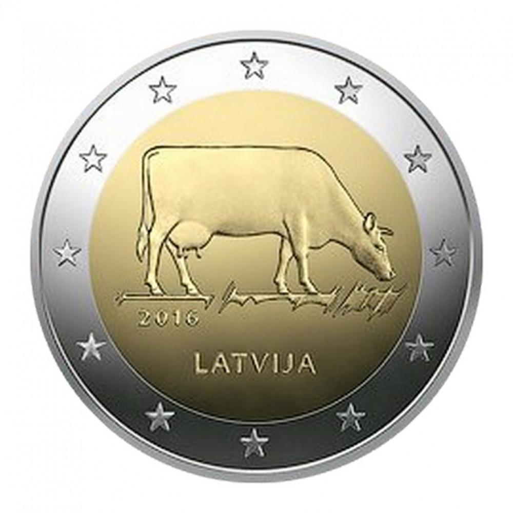Latvijas 2 Eiro piemiņas monēta - Latvijas Brūnā (2016) (BU)