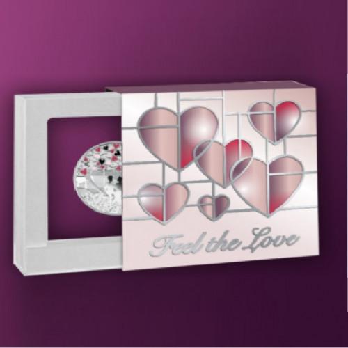Sudraba Monēta - Mīlestības monēta - 17.5g, 999