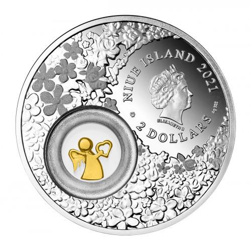 Sudraba Dāvanu Monēta - Sargeņģelis 2021, 28,28 g, 925
