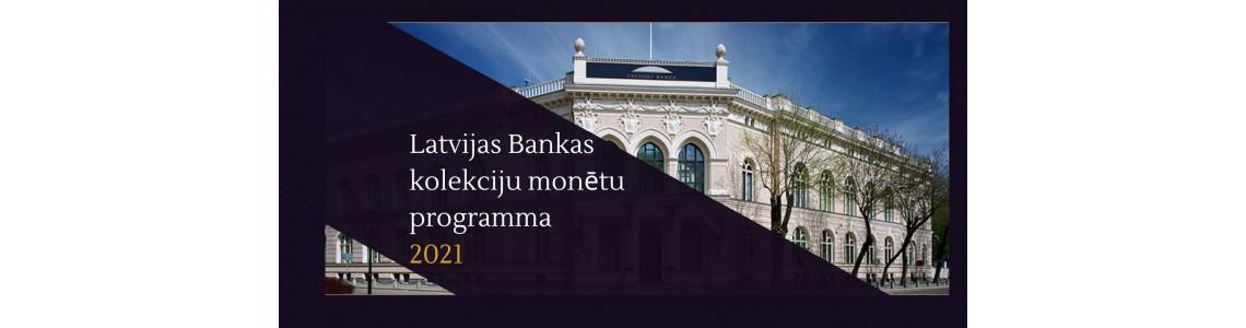 Šogad mūs priecēs piecas jaunas Latvijas Bankas kolekcijas monētas