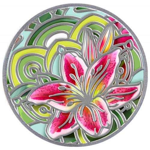 Sudraba Monēta - Ziedu Valoda - Lilija 17,50 g, 999