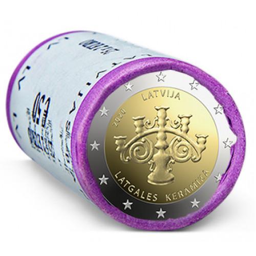Latvijas 2 Eiro piemiņas monēta - Latgales keramika (2020) (2x25 gab)