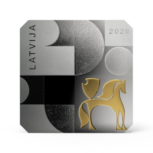 Latvijas Bankas kolekcijas monēta - Modernisms Latvijā. 20.gs. 60. gadi 26.25 g, 925