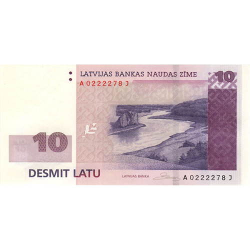 Latvijas 10 Latu Banknote