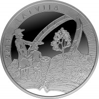 Sudraba 5 Eiro Kolekcijas Monēta - Veltīta Vecajam Stenderam 22,00 g, 925