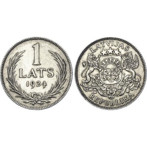 Sudraba Monēta - Latvijas Sudraba 1 Lats 5 g, 835