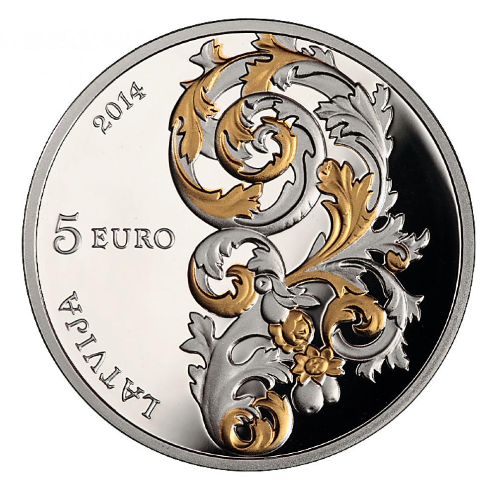 Skaista dāvana - Sudraba Kolekcijas Monēta - Kurzemes Baroks 22,00 g, 925