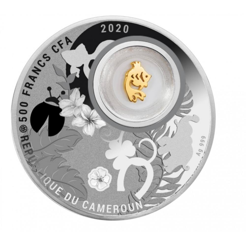 Sudraba veiksmes monēta - Zelta zivtiņa - 14.14g, 999.9