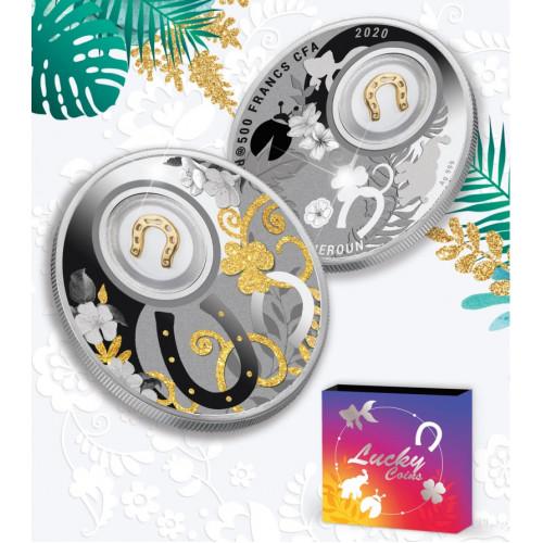 Sudraba veiksmes monēta -Pakavs- 14.14g, 999.9
