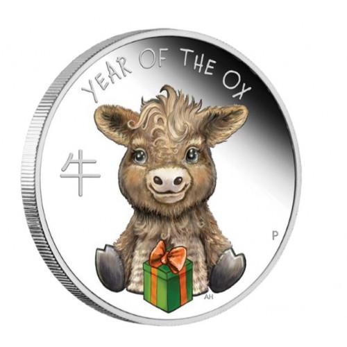 Sudraba monēta -Vērsītis- 15.55g, 999.9