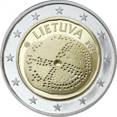 Lietuvas 2 Eiro piemiņas monēta - veltīta Baltu kultūrai (2016)