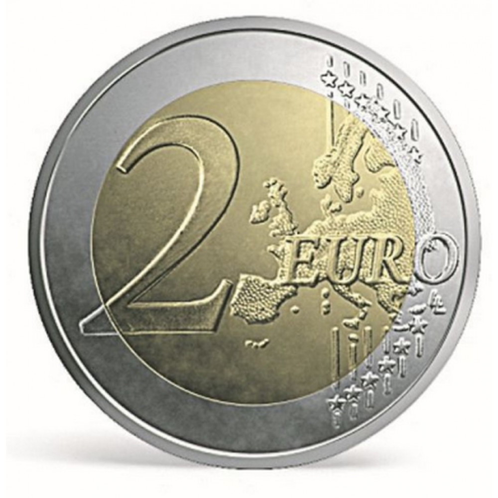 Latvijas 2 Eiro piemiņas monēta - Eiropas Savienības karogam 30 (2015) (2x25 gab)