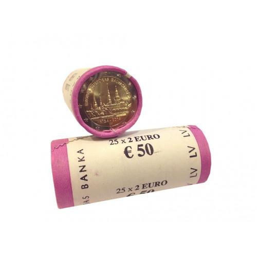 Latvijas 2 Eiro piemiņas monēta - Eiropas Kultūras Galvaspilsēta Rīga 2014 (2x25 gab)