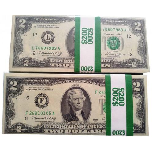 ASV 2x100 Dolāru Banknotes