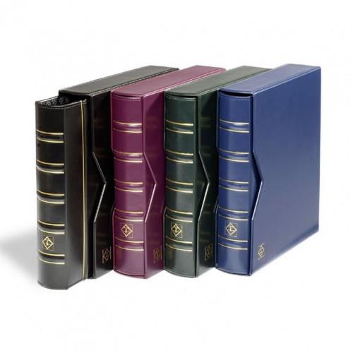 Monētu Albums OPTIMA Classic ar 10 lapām (Melns, Zaļš)