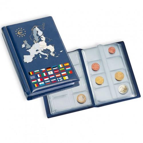 Monētu Albums 12 Eiro monētu komplektiem (Zils)