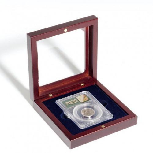 Sarkankoka Dāvanu kastīte VOLTERRA (Stieņiem, Ar Stikla Vāku)