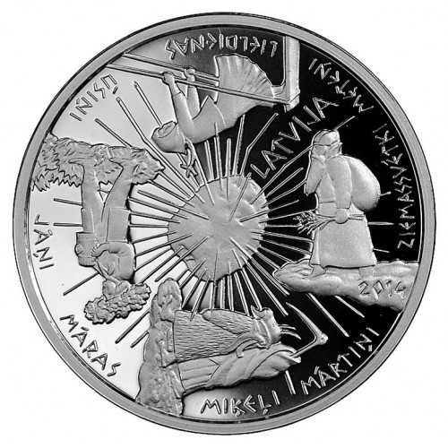 Sudraba 5 Eiro Kolekcijas Monēta - Gadskārtu Monēta 22,00 g, 925
