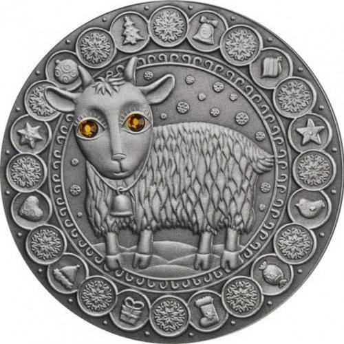 Dāvana dzimšanas dienā - Sudraba Monēta - Horoskops - Mežāzis (22.decembris-19.janvāris) 28,28 g, 925