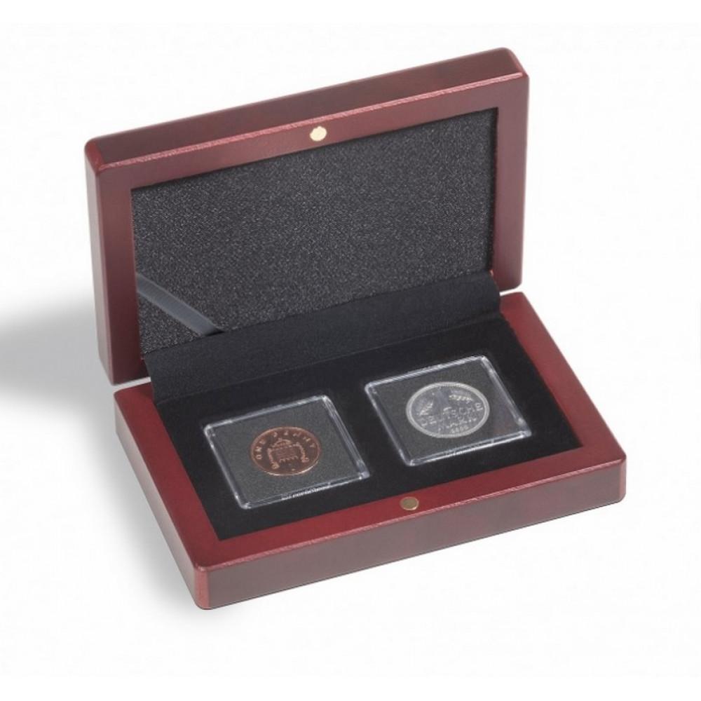 Sarkankoka monētu kastīte VOLTERRA (divām QUADRUM kapsulām)