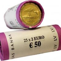 Latvijas 2 Eiro piemiņas monēta - Stārķis 2015 (2x25 gab)