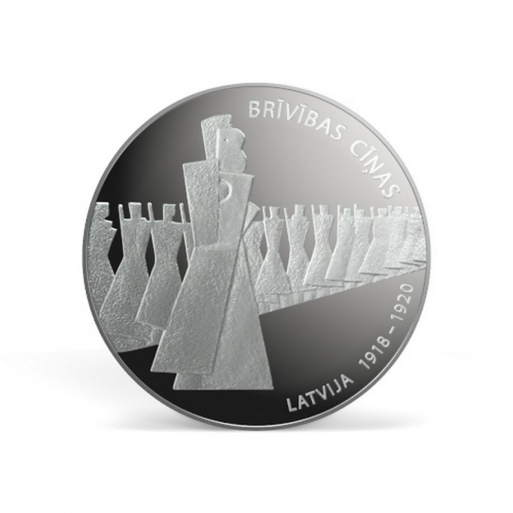 Latvijas Bankas kolekcijas monēta - Brīvības cīņas (1918-1920), 22g, 925