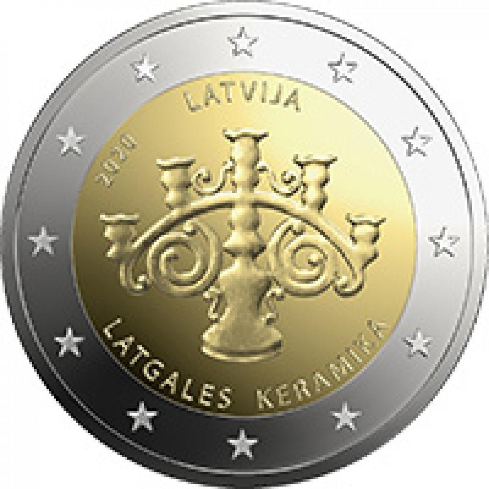 Latvijas 2 Eiro piemiņas monēta - Latgales keramika (2020)