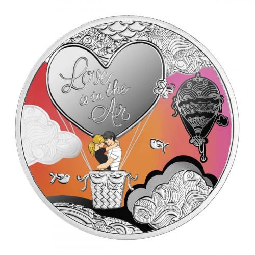 Sudraba Monēta - Mīlestība virmo gaisā - 10 g, 999