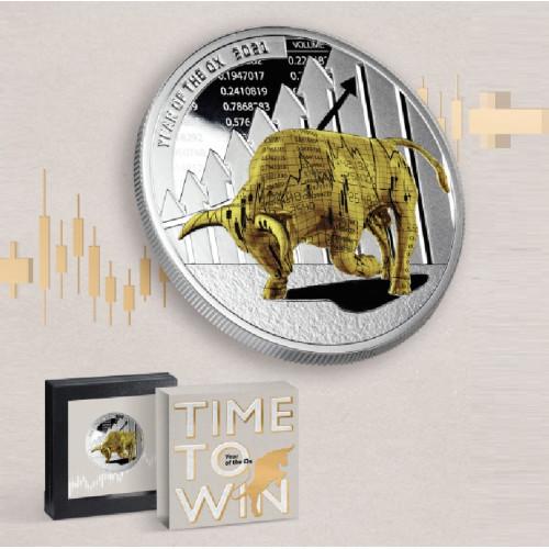 Sudraba monēta - Vērša gads - Laiks uzvarai - 1 oz, 999